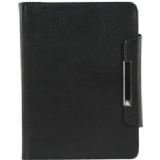 Groov-E Genuine Leather Wallet Case for Kindle 4 / Kindle Touch - Black